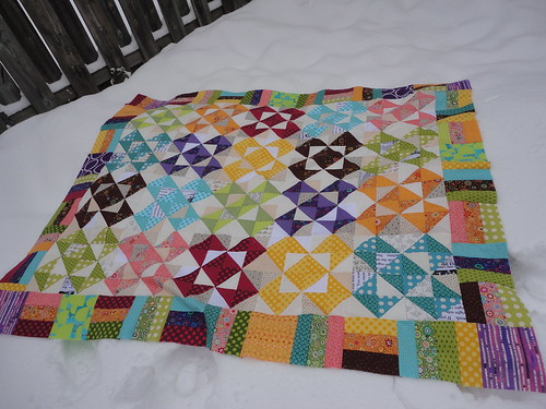 Windmill Quilt top - laid out