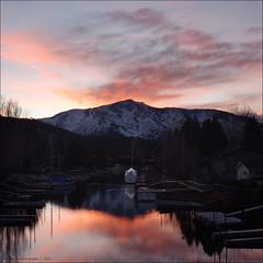 tahoe at dusk