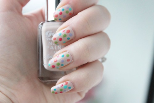 Spotty Nails with Barry M Gelly Paints