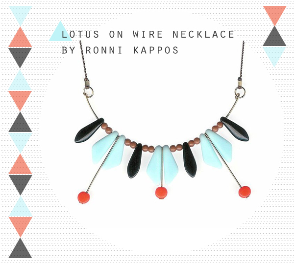 Lotus on Wire Necklace by Ronni Capos at Uncommon Goods | Emma Lamb