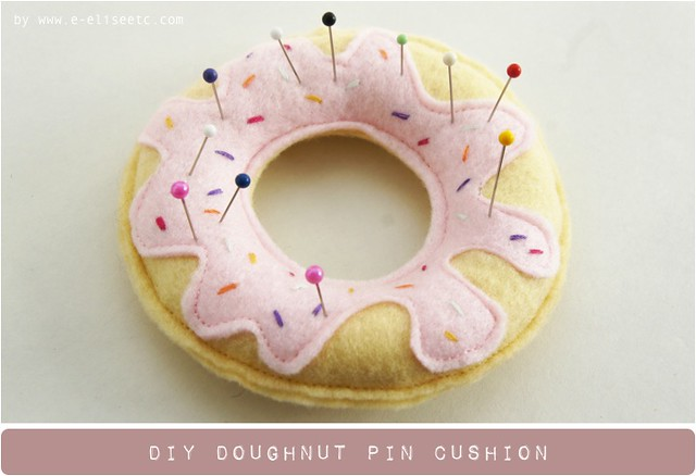 diy doughnut pin cushion