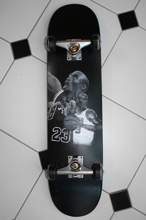 Custom hand painted longboard by Ace of Dymondz ($200+ example)