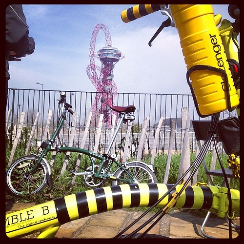 LBC Thames Bridges Ride 2014 #urban #lbclub  #olympic #bromptonbicycle