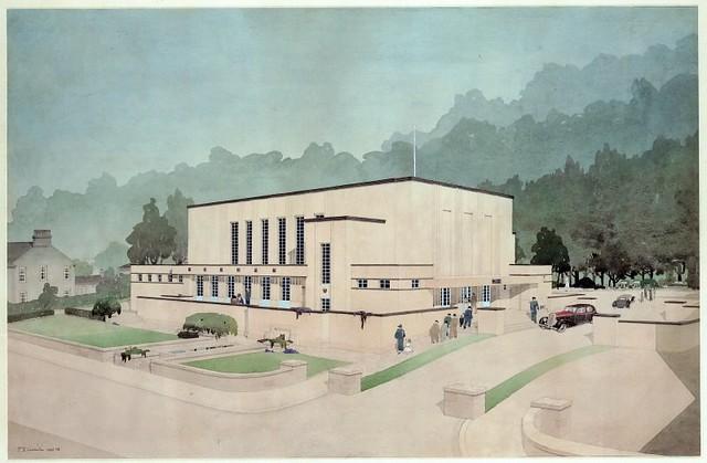 Cragburn Pavilion, Gourock drawn in 1935