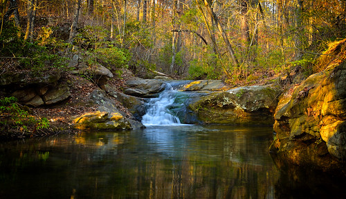 forest landscape waterfalls creeks water nature dusk outdoors alabama gadsden nocalulafalls