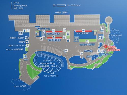 小倉競馬場の2階ファーストフードプラザの位置