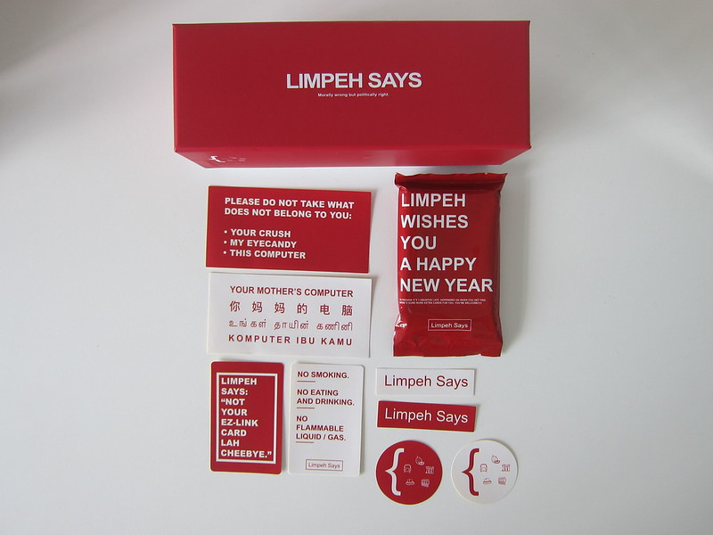 Limpeh Says - Packaging Box Contents