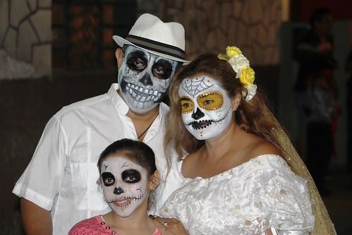 The Whole Family - Paseo de las Ánimas - Passage of the Souls, Merida, Mexico