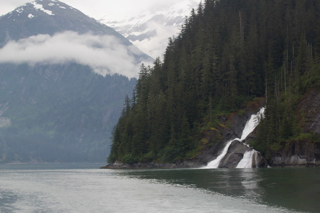 Waterfalls in Tracy Arm Fjord