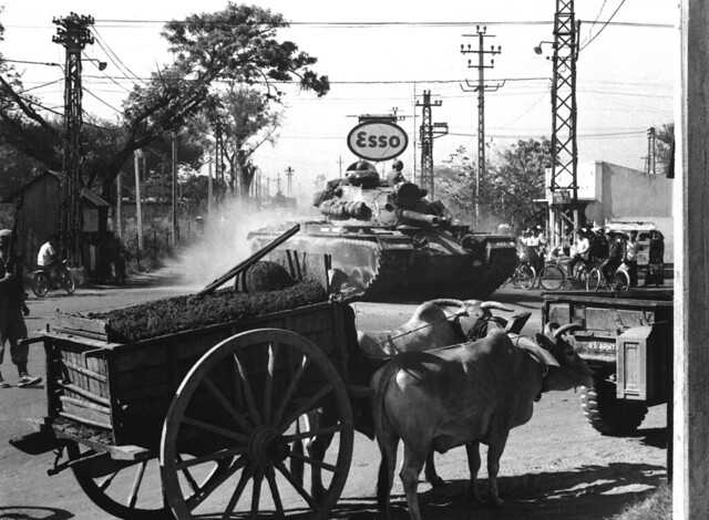 SAIGON March 12, 1966 - 69th Armor M-48 in Saigon headed for Cu Chi