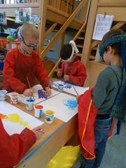 3KA: Schrijfdans: Geblinddoekt schilderen op muziek (31/03/17)