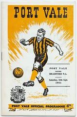 PORT VALE v BRADFORD PARK AVENUE 1961-62