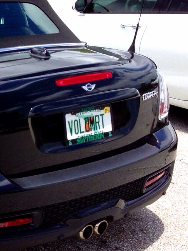 Voldemort apparently drives a MINI Roadster