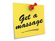 Get a Massage White Background
