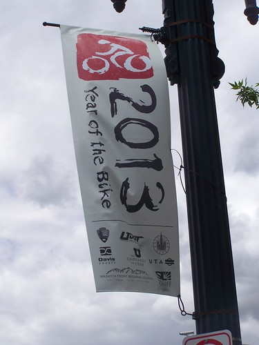 2013 Year of the Bike banner, Salt Lake City