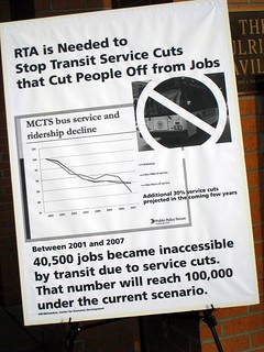 poster protesting transit service decline, 2009 (by: Bill Sell, creative commons)