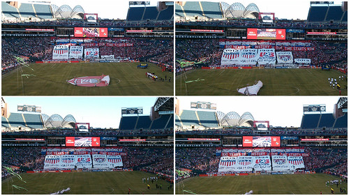 USMNT tifo display