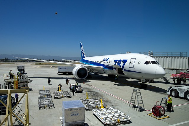 ANA JA805A Boeing 787 arrived at SJC