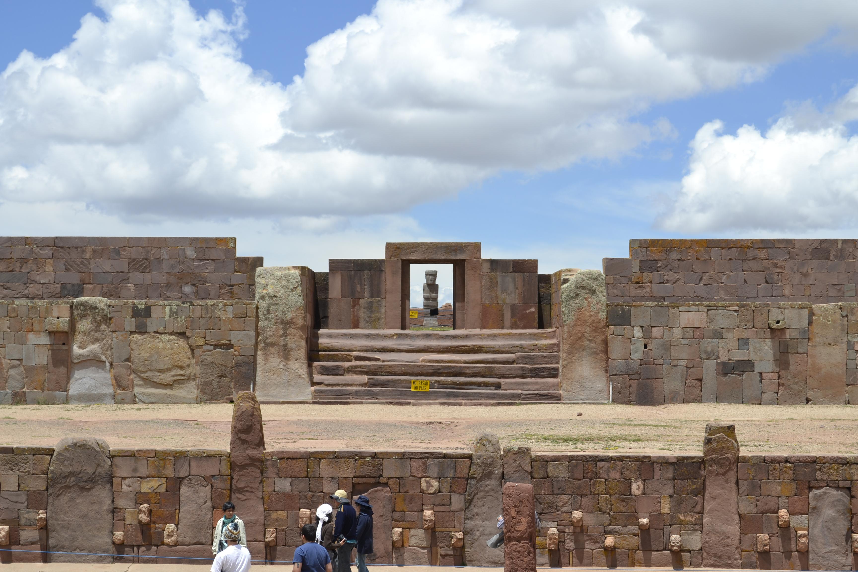 Detalle del sitio arqueológico de Tiwanaku, Bolivia. Autor, Josemar Ferreira