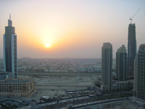 Sunset Over Dubai, June 2013