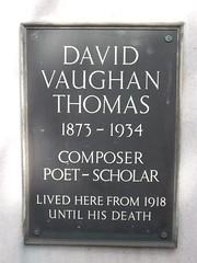 Photo of David Vaughan Thomas slate plaque