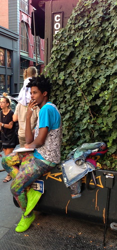 Stylish young artist, Soho