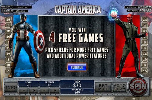 free Captain America - The First Avenger bonus feature