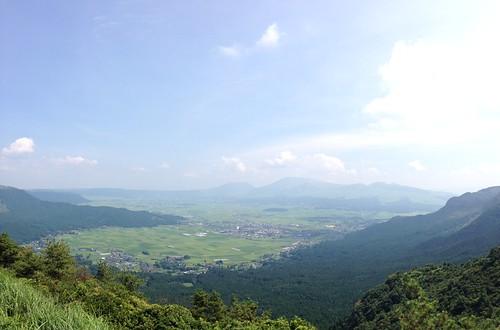 菊池阿蘇スカイライン 展望台からの景観