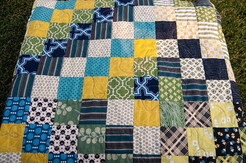 Finished Chicopee Scrappy Trip Quilt