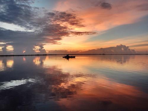 morning sky cloud water clouds sunrise landscape fishing kayak day florida cloudy oakhill outdoor originalfilter