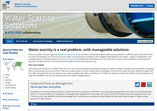 Water Scarcity Solutions website