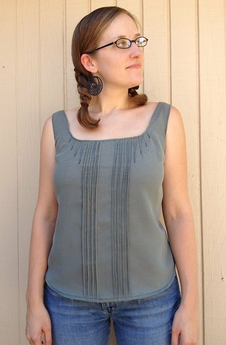 Button-Back Blouse
