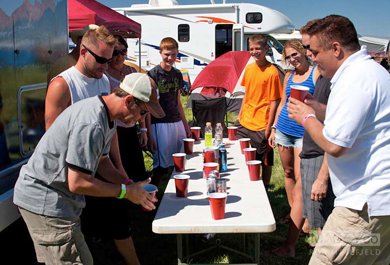 Another day, another endless session of 'Flip Cup'.