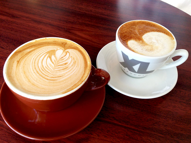 Nutella Latte and Flat White