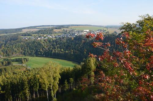 Blick vom Wiedeturm Richtung Thüringen