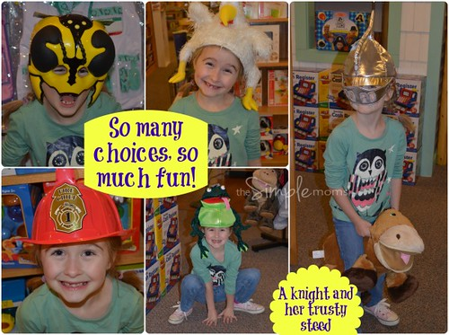 Brilliant Sky Toys and Books dress up collage