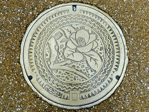 Kurayoshi Tottori , manhole cover (鳥取県倉吉市のマンホール)
