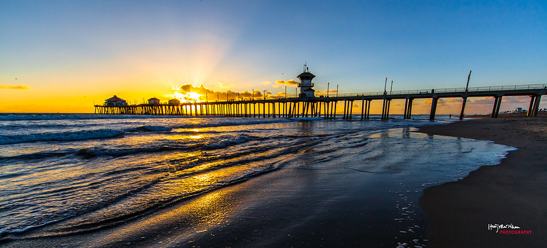 2013-10-29 Sunset Over Huntington Beach Pier-9112