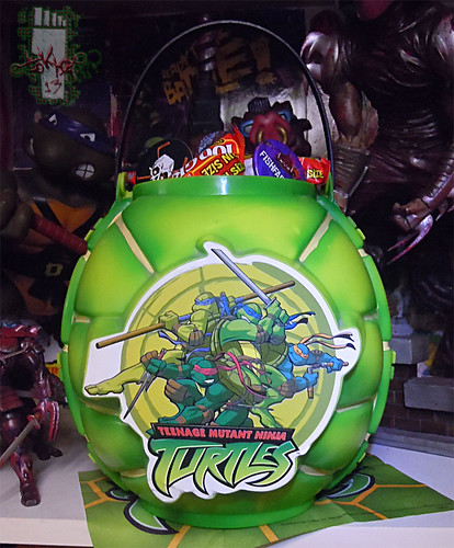 DISGUISE :: TMNT Folding Pumpkin Pail i (( 2004 ))