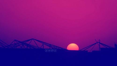 sunset sun cityscape sharjah