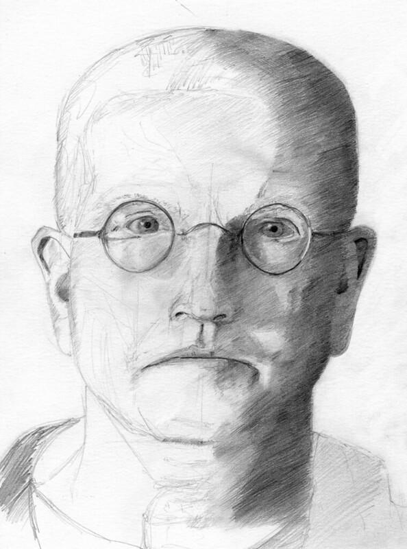 quick self portrait - pencil