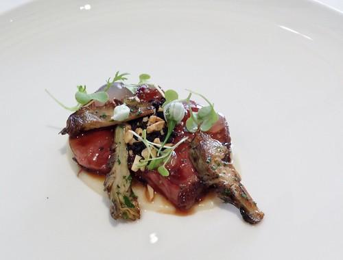 Tetsuya's: Roasted Lamb Rack with Black Olives & Artichoke