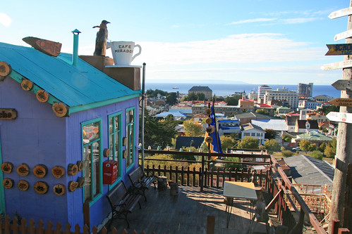 Punta Arenas Chile. View across the city.