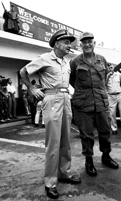 Adm. McCain and Gen. Abrams, 1969