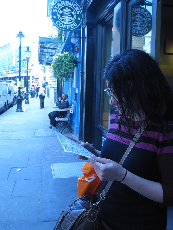 Reading the map, Covent Garden