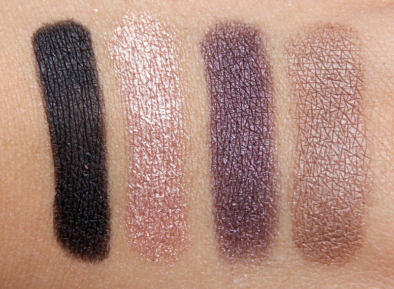 Make up for ever Midnight glow 8 eye shadow palette swatch12