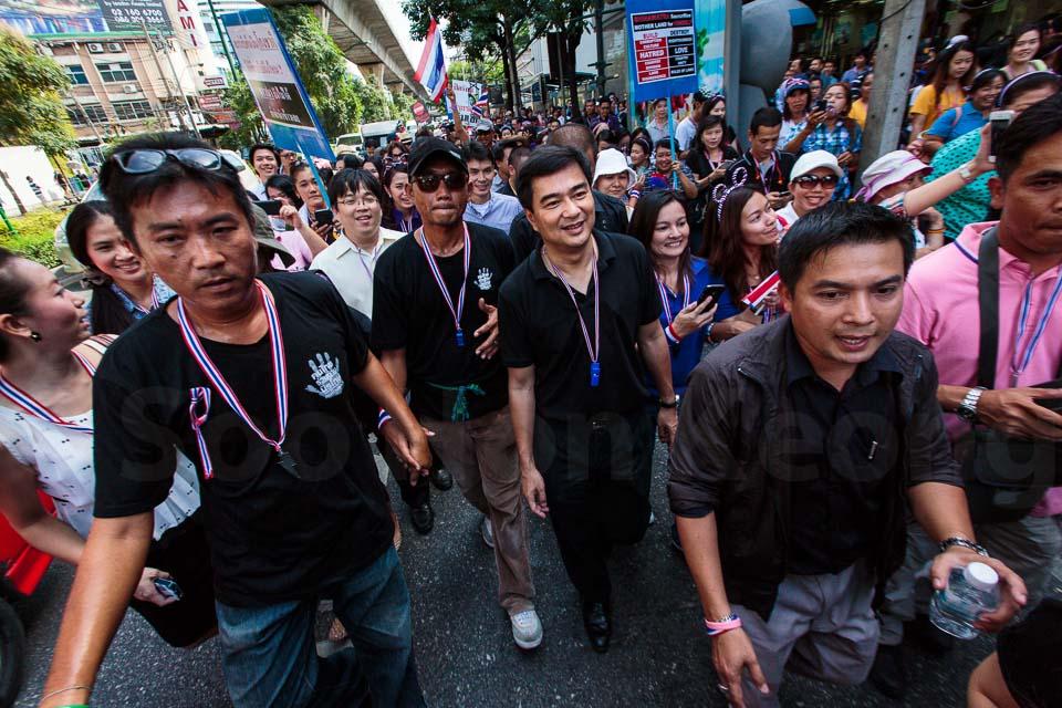 Abhisit Vejjajiva - Anti Government Protest @ Bangkok, Thailand @ Bangkok, Thailand