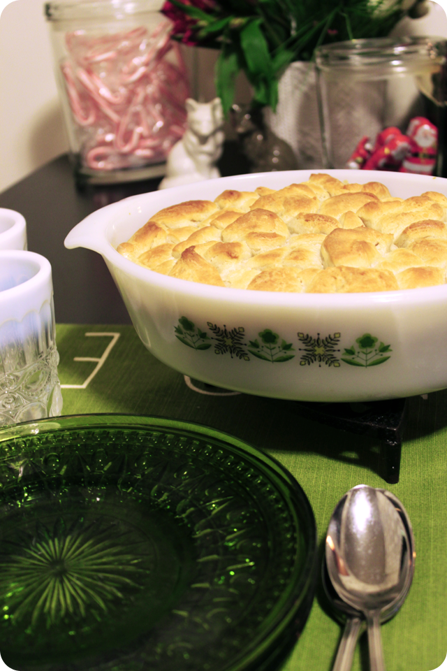 {december 2} easy chicken pot pie | biscuit top