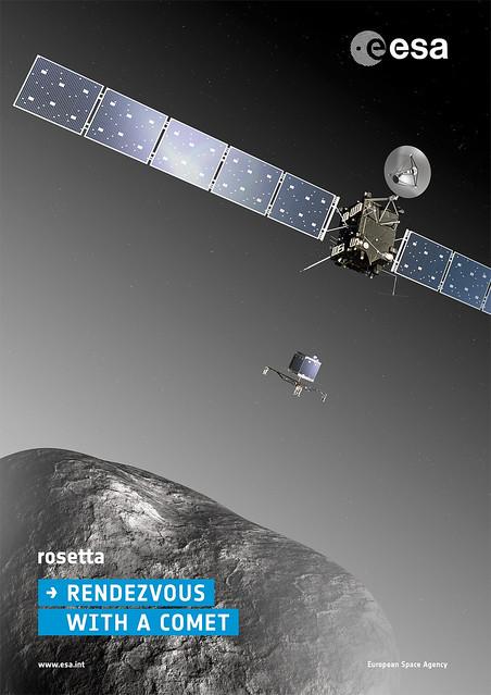 Rosetta mission poster from Flickr via Wylio