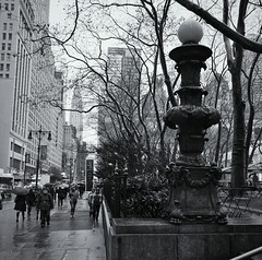 Rainy Bryant Park #walkingtoworktoday